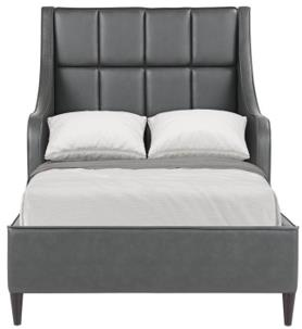 WEEKLY or MONTHLY. Charlie Grey Upholstered Youth Bed
