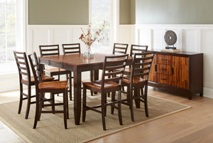 "WEEKLY or MONTHLY. Abaco 54"" Counter Table + 4 Counter Chairs"