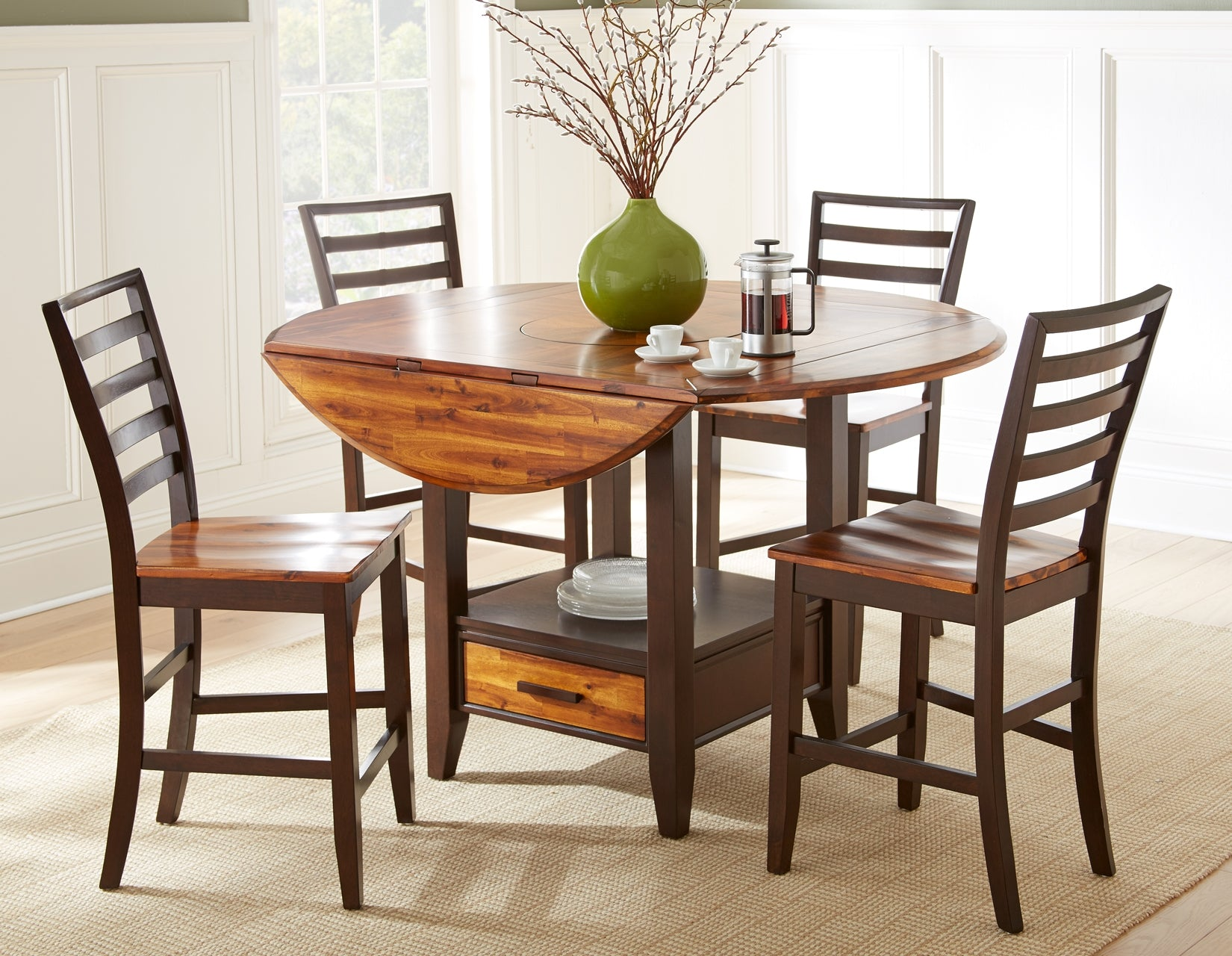 WEEKLY or MONTHLY. Abaco Drop Leaf Table & 9 Dining Chairs ...