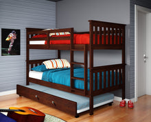 WEEKLY or MONTHLY. Cappuccino Twin over Twin Bunkbed with Fixed Ladder