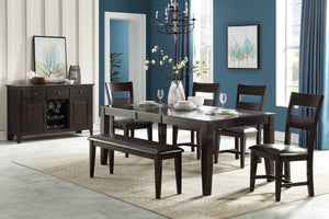WEEKLY or MONTHLY. Fairview Standard Dining Table & 6 Side Chairs