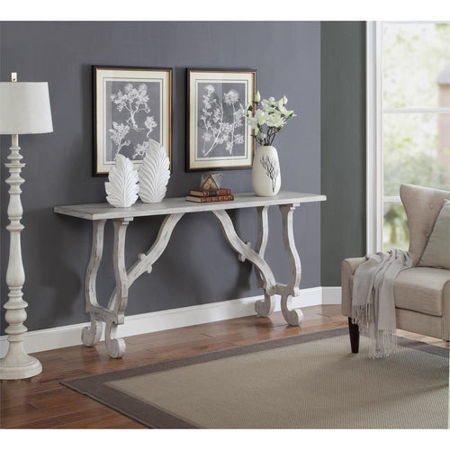 WEEKLY or MONTHLY. White Orchids Sofa Console Table