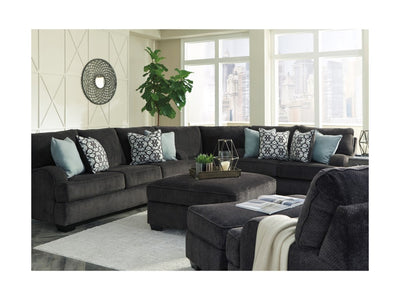 WEEKLY or MONTHLY. Carrey Deep Grey Sectional