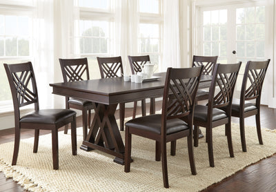 WEEKLY or MONTHLY. Andre Dining & 6 Side Chairs