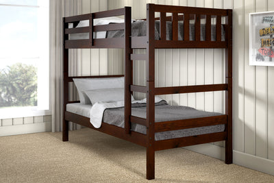 WEEKLY or MONTHLY. Austin Dark Cappuccino Twin over Twin Bunk