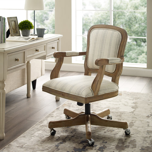 WEEKLY or MONTHLY. Marlene Striped Home Office Chair