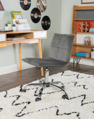 Lenny Gray Home Office Chair
