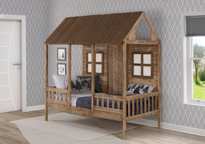 WEEKLY or MONTHLY. Rustic Driftwood Twin Front Porch Low Loft