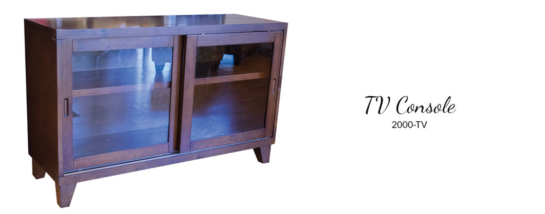 WEEKLY or MONTHLY. TV Console Walnut Inlay
