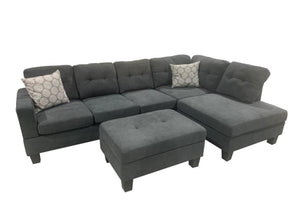 WEEKLY or MONTHLY. Humble Bubble Grey Tufted Sectional