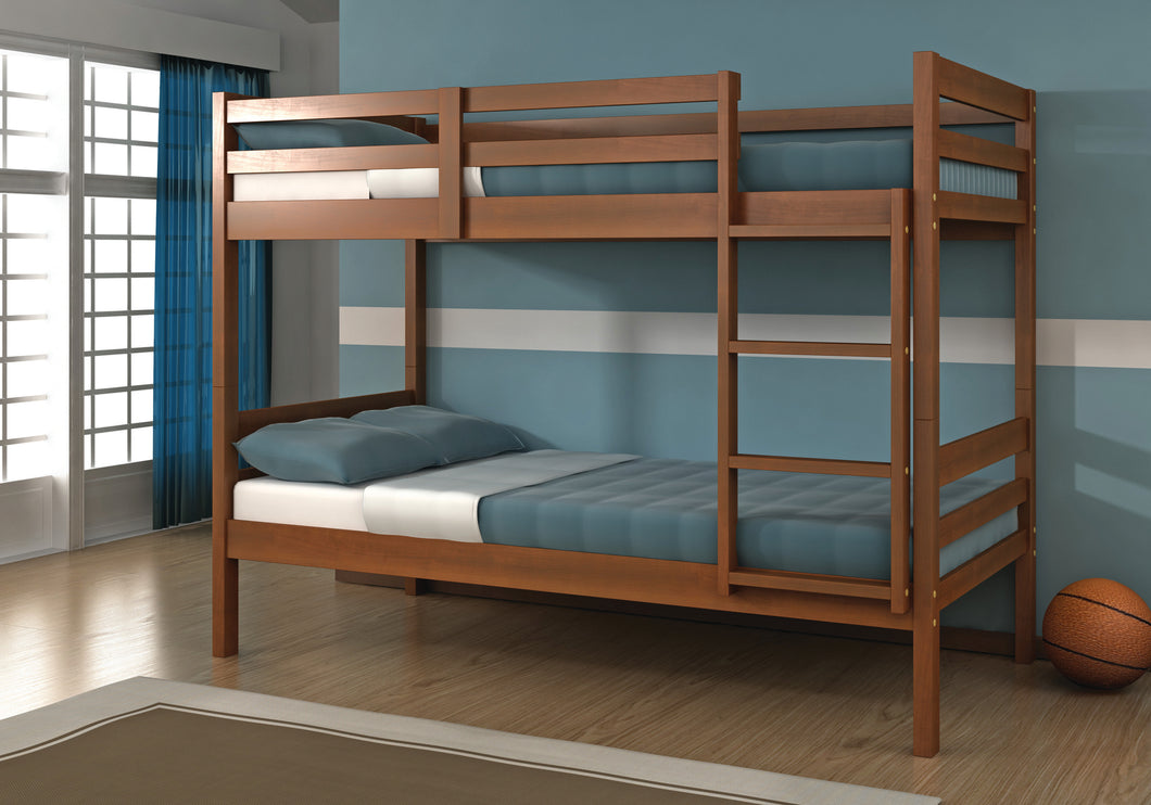 WEEKLY or MONTHLY. Econo Twin over Twin Bunkbed with Fixed Ladder