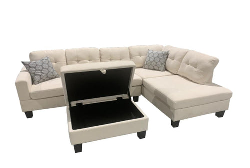 WEEKLY or MONTHLY. Humble Bubble Cream Tufted Sectional