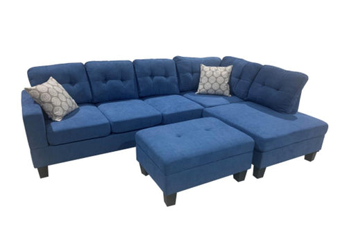 WEEKLY or MONTHLY. Humble Bubble Blue Tufted Sectional