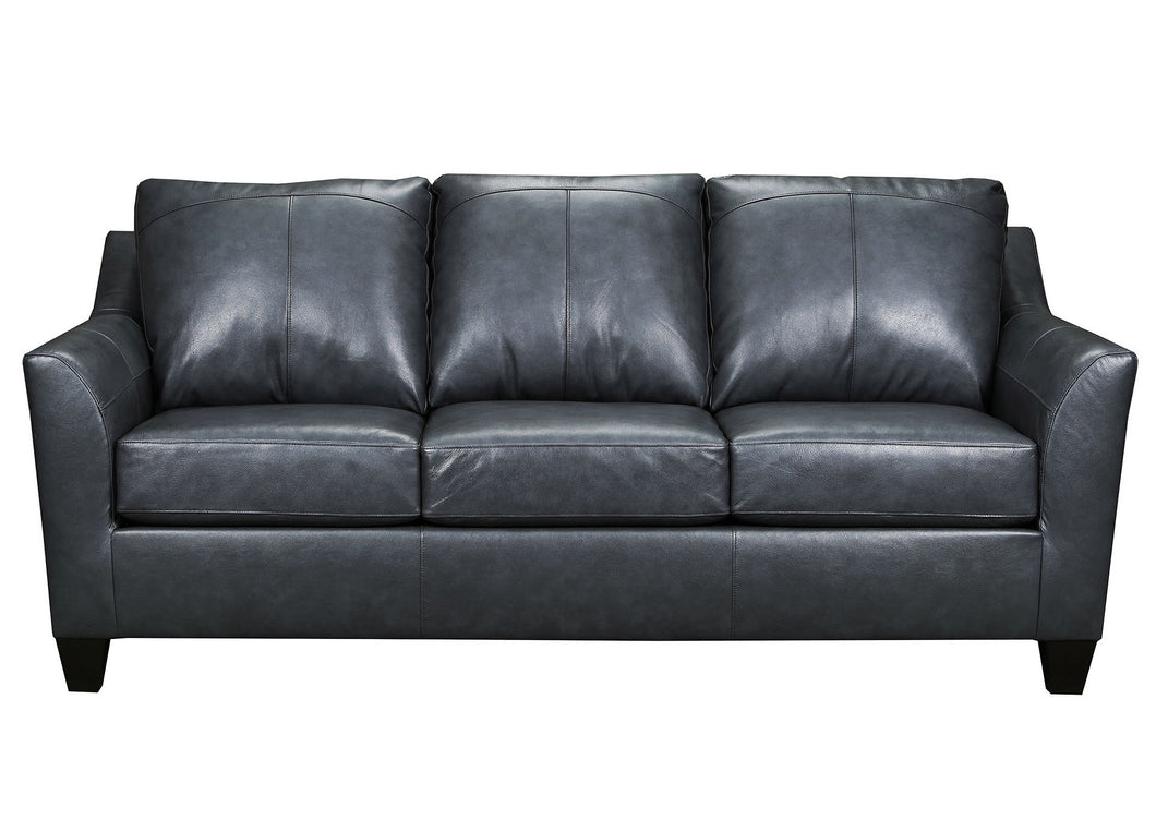 WEEKLY or MONTHLY. Soft Touch Genuine Leather in Fog Couch Set