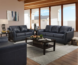 WEEKLY or MONTHLY. Soft Touch Genuine Leather in Shale Sectional