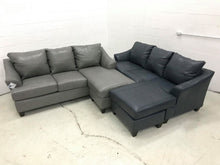 WEEKLY or MONTHLY. Soft Touch Genuine Leather in Shale Couch Set