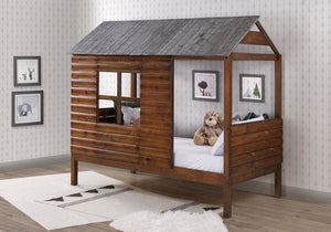 WEEKLY or MONTHLY. Twin Log Cabin Low Loft Bed