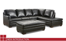 WEEKLY or MONTHLY. Midnight Dream Genuine Leather Sectional
