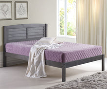 WEEKLY or MONTHLY. Full Louver Bed in Antique Grey