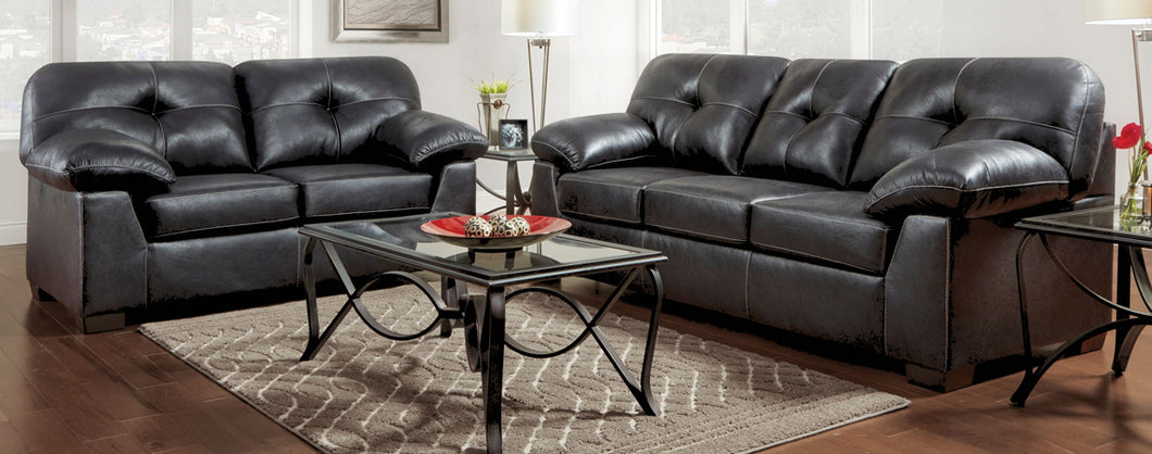 WEEKLY or MONTHLY. Nevada Black Couch Set