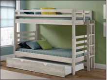 WEEKLY or MONTHLY. Snow Boss Straight TWIN/TWIN Bunk with Ladder