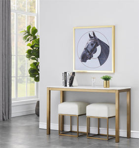 WEEKLY or MONTHLY. Golden Avalon Sofa Console Table & 2 Stools