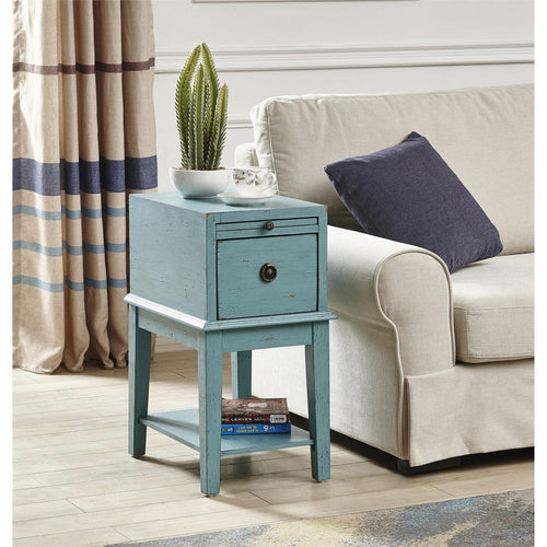 Bayberry Blue Chairside Table