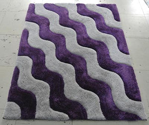 Lavender Waves of Awesomeness Area Rug