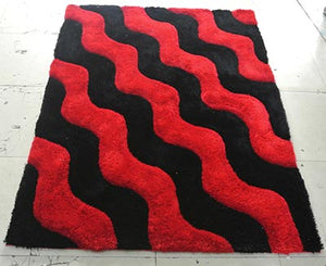 Waves of Red Sea Area Rug