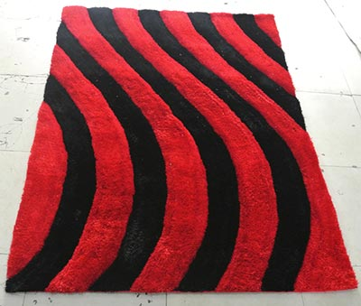 Red Wave Chili Rug