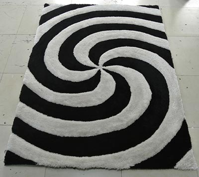 Twirling Black Rug