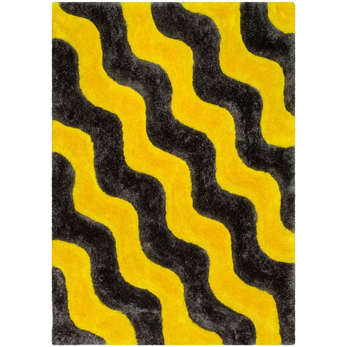 3D Shag 802 Yellow Rug