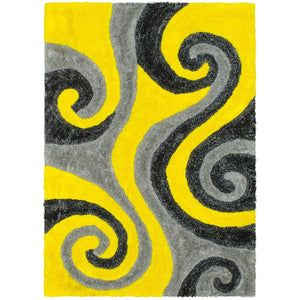 3D Shag 805 Yellow Rug