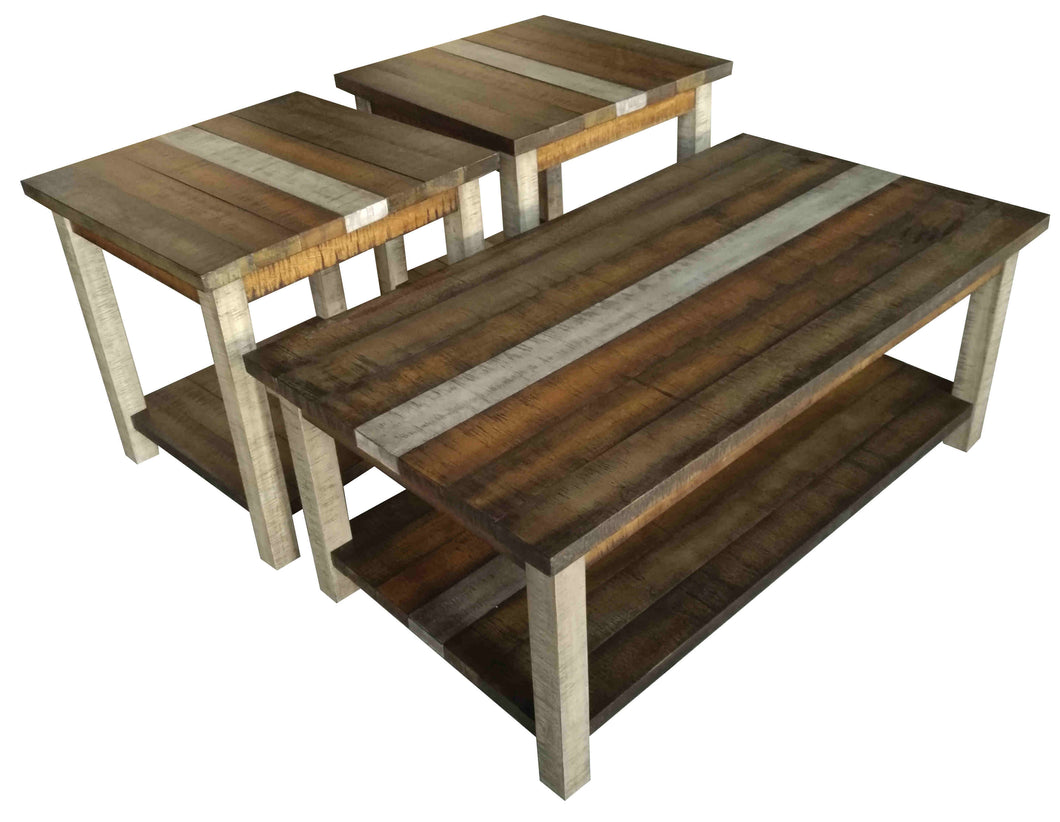 WEEKLY or MONTHLY. Rustic Retrieve Cocktail Table & 2 Ends