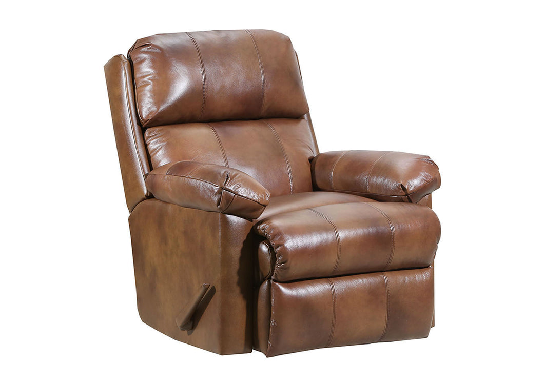 WEEKLY or MONTHLY. Real Soft Touch Leather POWER Glider Recliner in Chaps