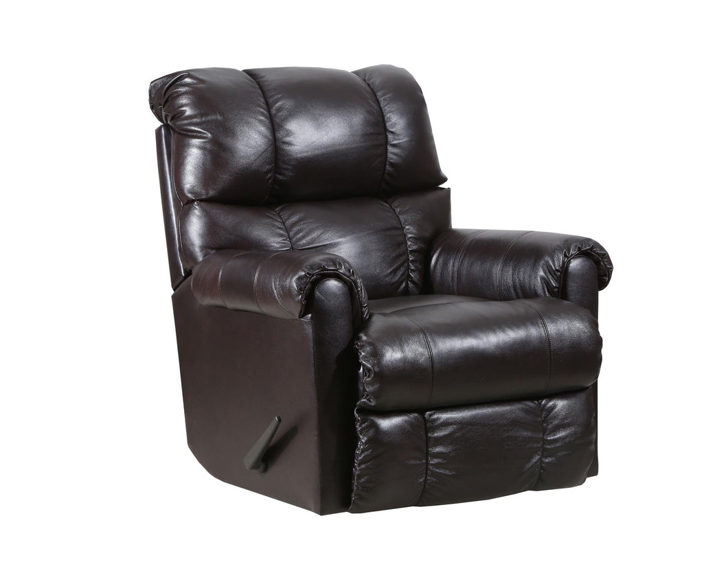 WEEKLY or MONTHLY. Soft Touch Genuine Leather POWER Rocker Recliner in Bark