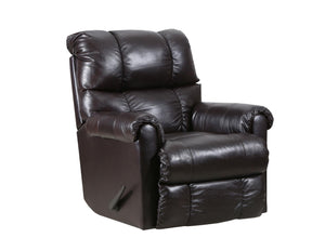 WEEKLY or MONTHLY. Soft Touch Genuine Leather POWER Rocker Recliner in Taupe