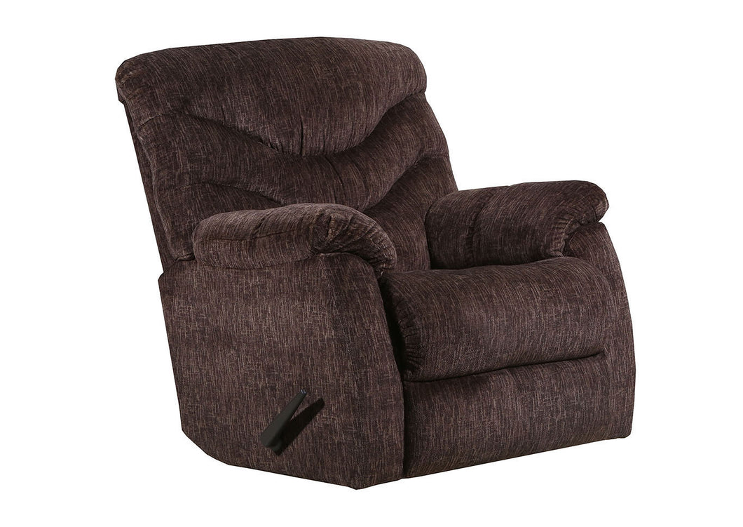 WEEKLY or MONTHLY. Alecio Recliner in Chocolate