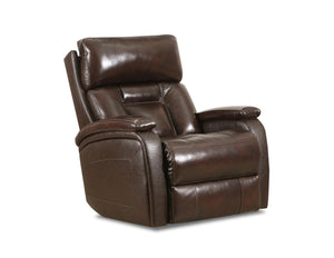 WEEKLY or MONTHLY. Genuine Leather Bashan Indigo POWER Rocker Recliner