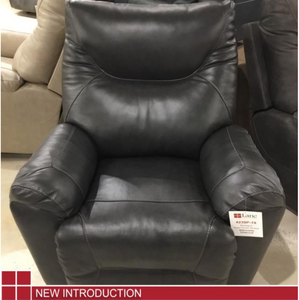 WEEKLY or MONTHLY. Genuine Leather Charcoal Shadow Recliner