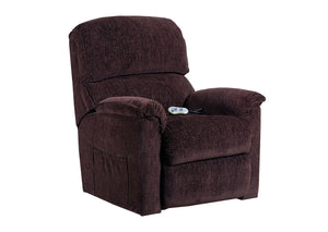 WEEKLY or MONTHLY. Candor Power Lift Recliner in Mocha