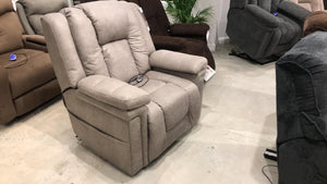 WEEKLY or MONTHLY. Turbo Thunderbolt Lift Recliner with Heat and Massage in Gray
