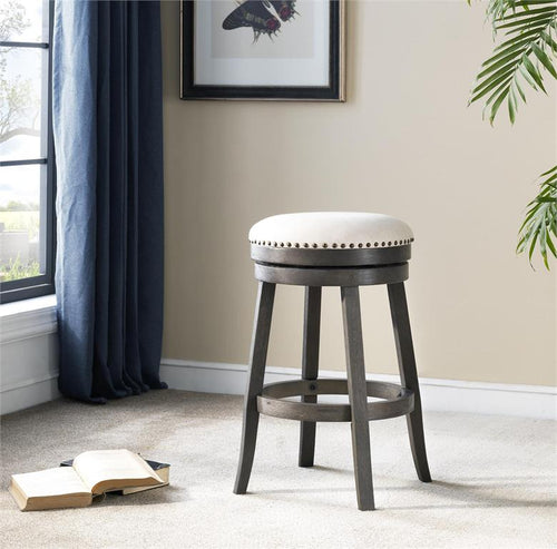 WEEKLY or MONTHLY. Nailhead Trim Swivel Counter Stool