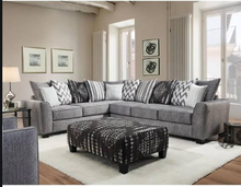 WEEKLY or MONTHLY. Stonewash Black Sectional
