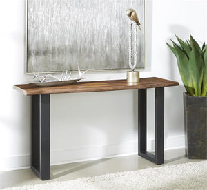 WEEKLY or MONTHLY. Nut Brown Stone Sofa Console Table
