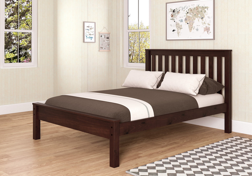 WEEKLY or MONTHLY. Full Contemporary Bed in Dark Cappuccino