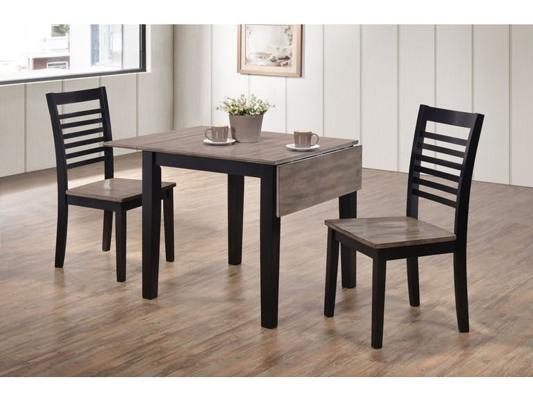 WEEKLY or MONTHLY. Happy Hampton Drop Leaf Table + 2 Chairs