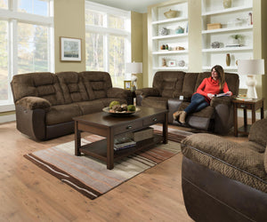 WEEKLY or MONTHLY. Skylar Chocolate POWER Sofa & Loveseat