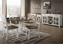 WEEKLY or MONTHLY.  A La Carte White Drop-Leaf Pedestal Table and 4 Chairs