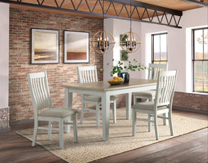 WEEKLY or MONTHLY. Elise Rustic Dining Table & 4 Upholstered Side Chairs